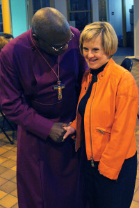 Tanya Shares a laugh with the Archbishop.